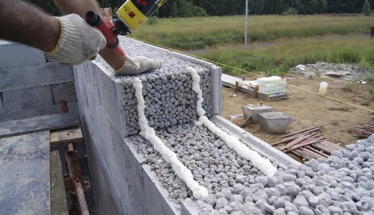 Керамзитобетон заливка дома проверка конуса бетона