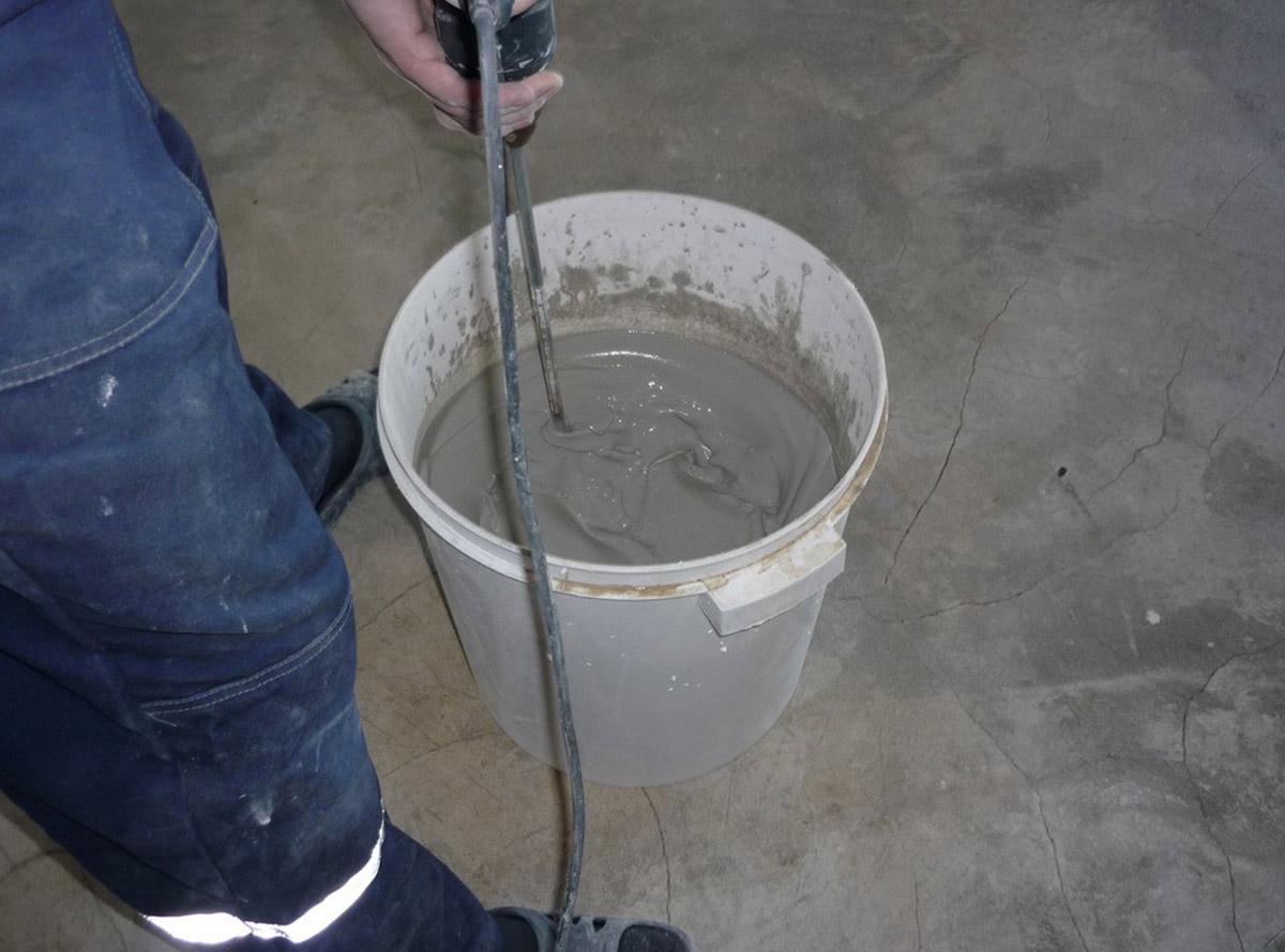 Замес газоблока в емкости