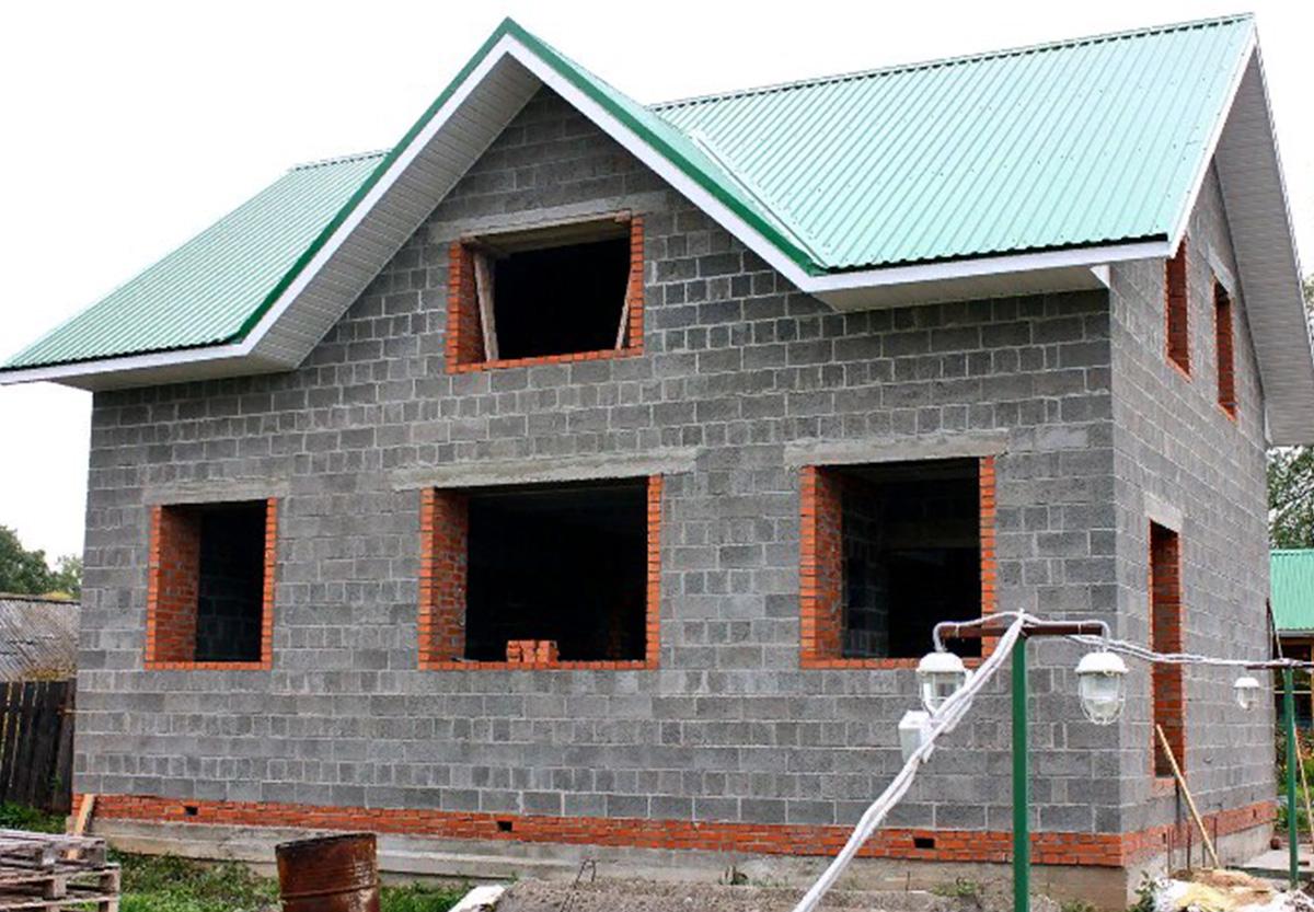 Дачный дом из блоков