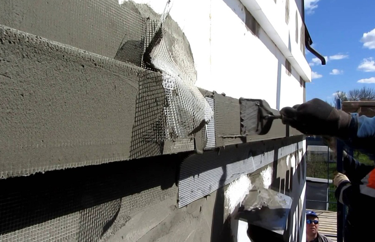 Штукатурка стен из газобетона снаружи