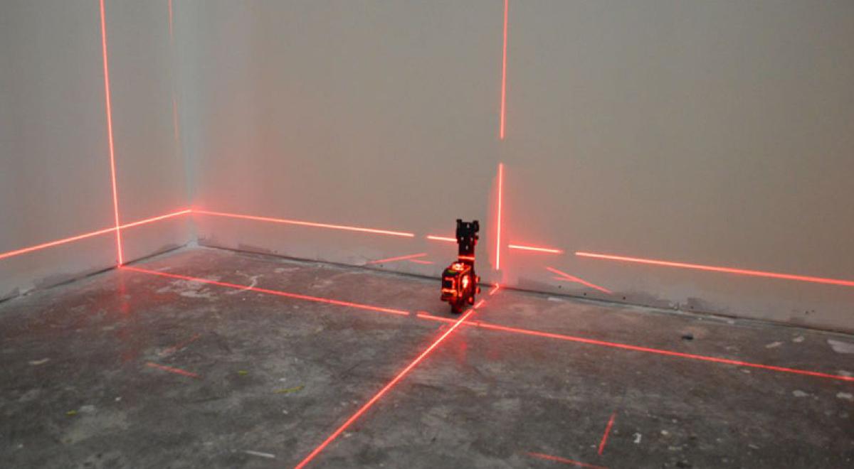 Разметка лазерным уровнем