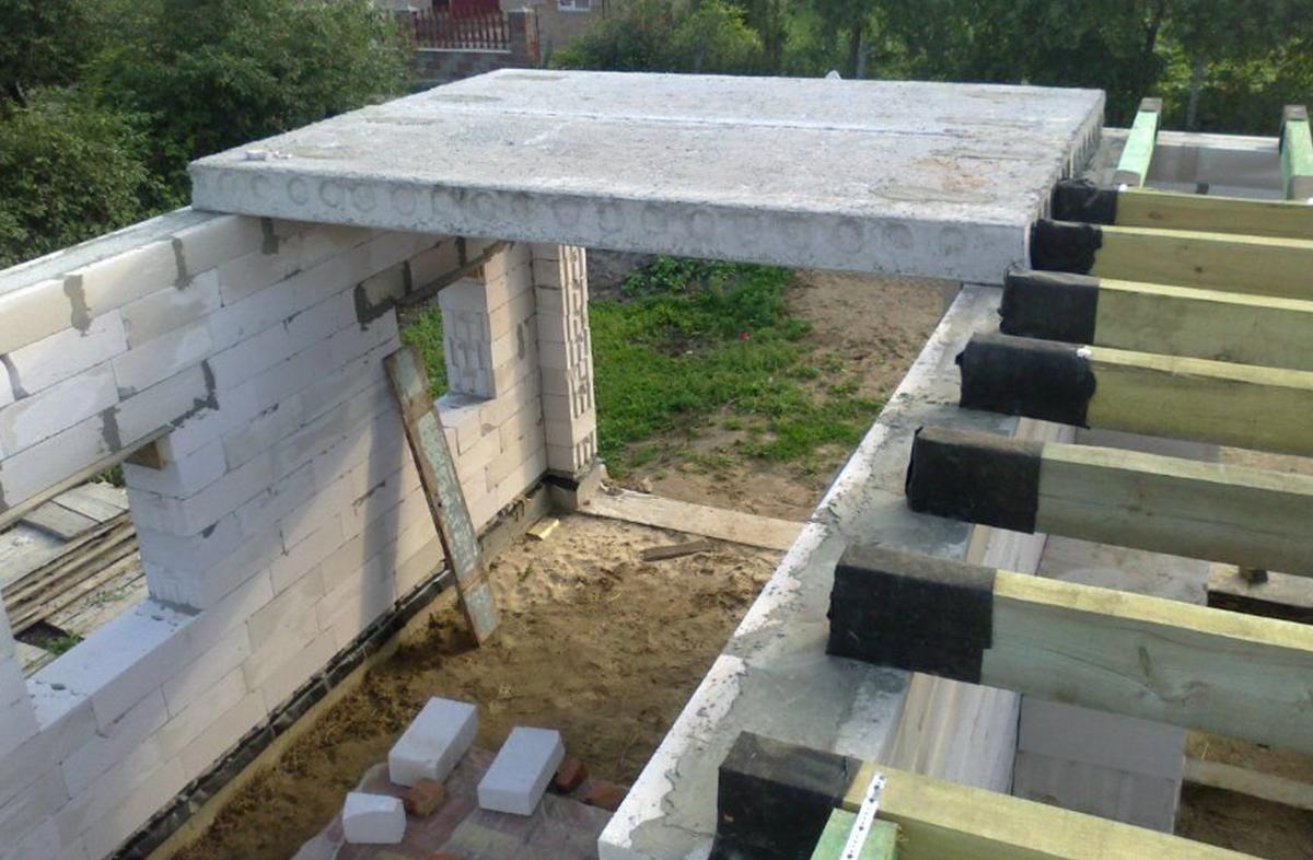 Перекрытия для домов из газобетона