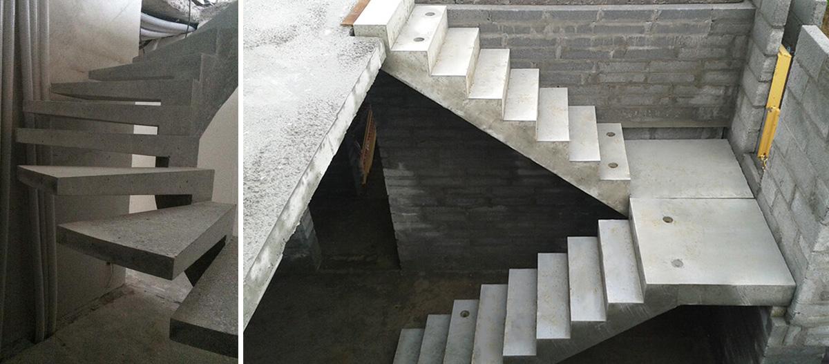 Варианты монолитных лестниц
