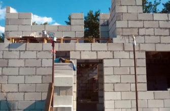 Кладка стен из газобетонных блоков