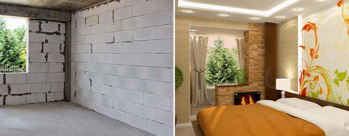Внутренняя отделка стен из газобетона