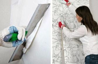 Шпаклевание стен под поклейку обоев