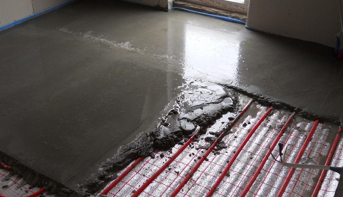 Минимальная толщина стяжки под тёплый пол