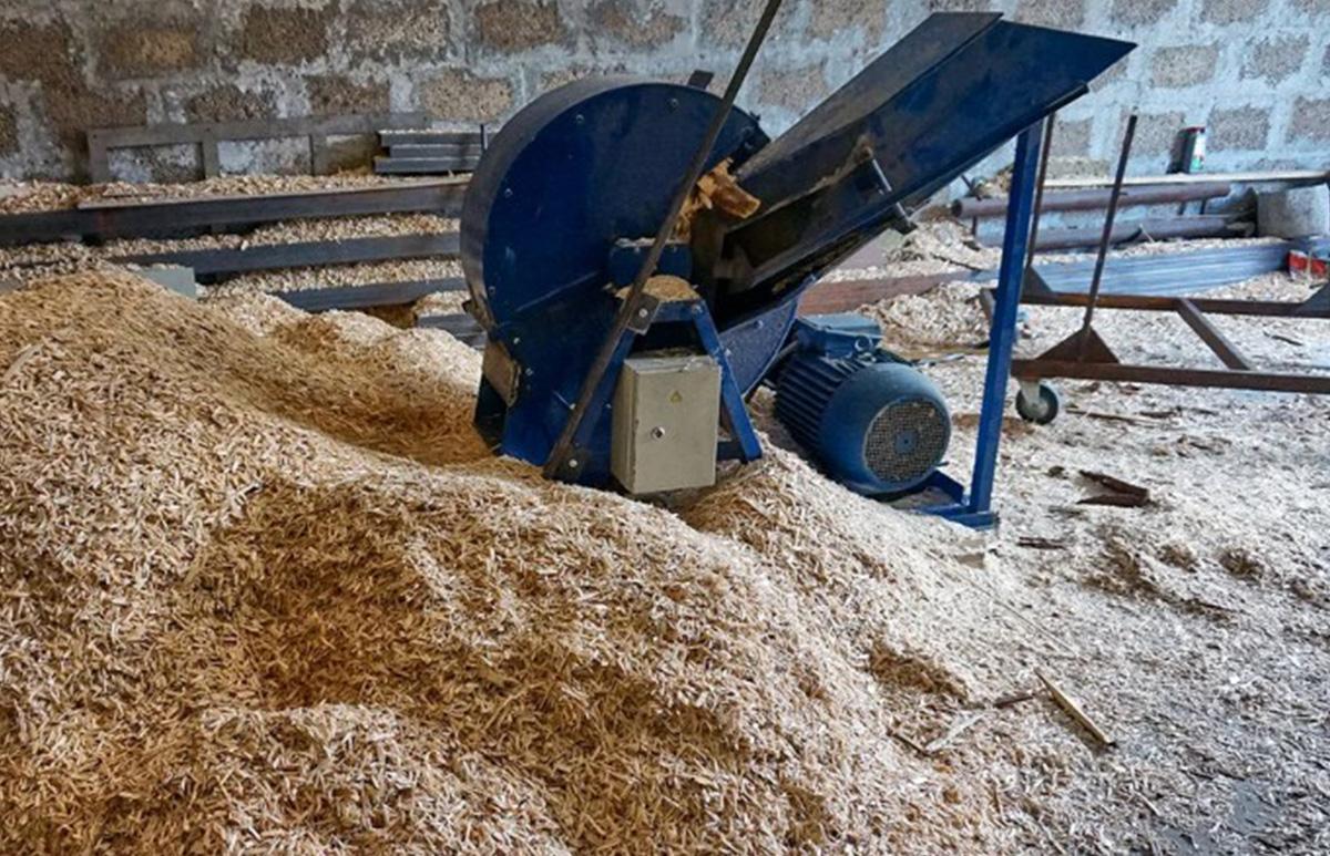 Производство щепы для опилкоблоков