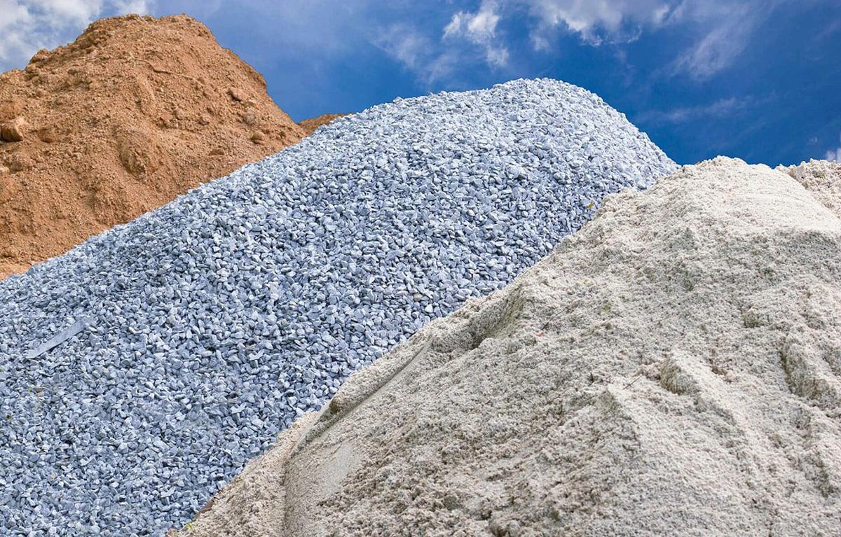 Песок, щебень для бетона