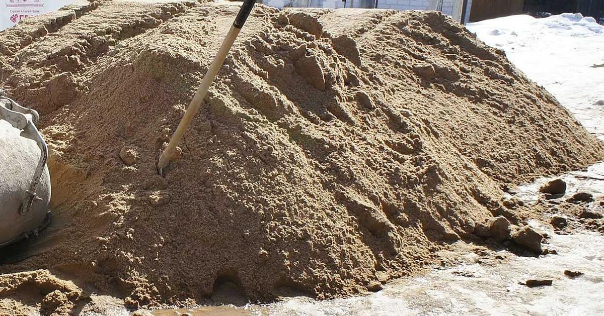 Речной песок - заполнитель для бетона