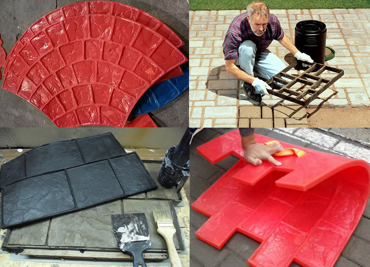 Формы для печатного бетона