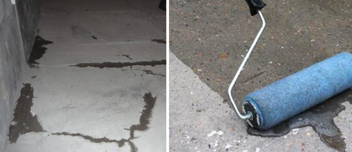 Ремонт и грунтование бетонного пола