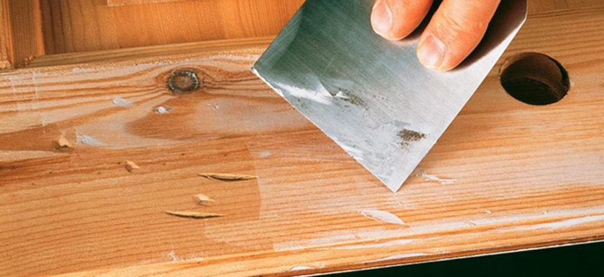 Шпаклевка деревянных поверхностей