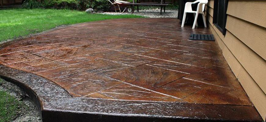 Печатный бетон декор