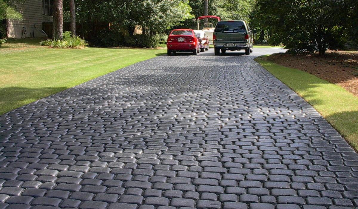 Дорога из декоративного бетона