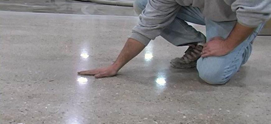 Обеспыливание бетонного пола