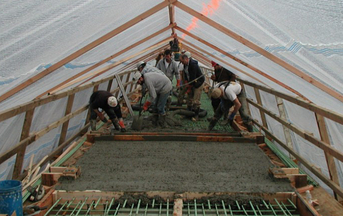 Заливка бетона при низких температурах