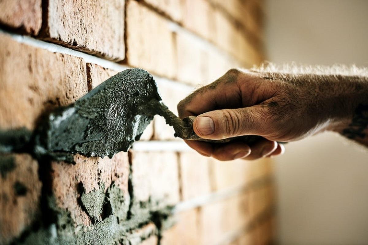 Фото штукатуривания кирпичной стены