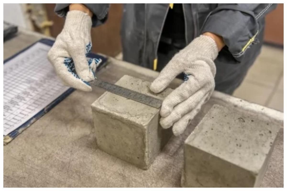 Образец бетона