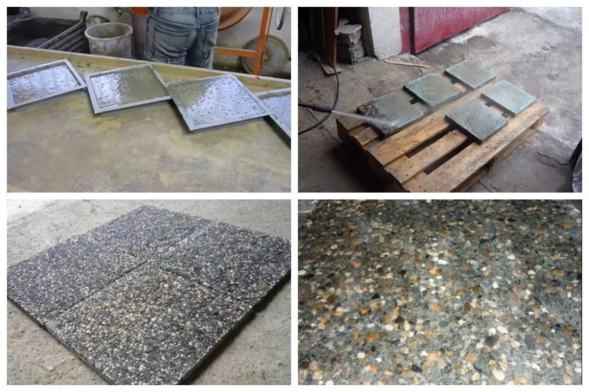 Получение мытого бетона