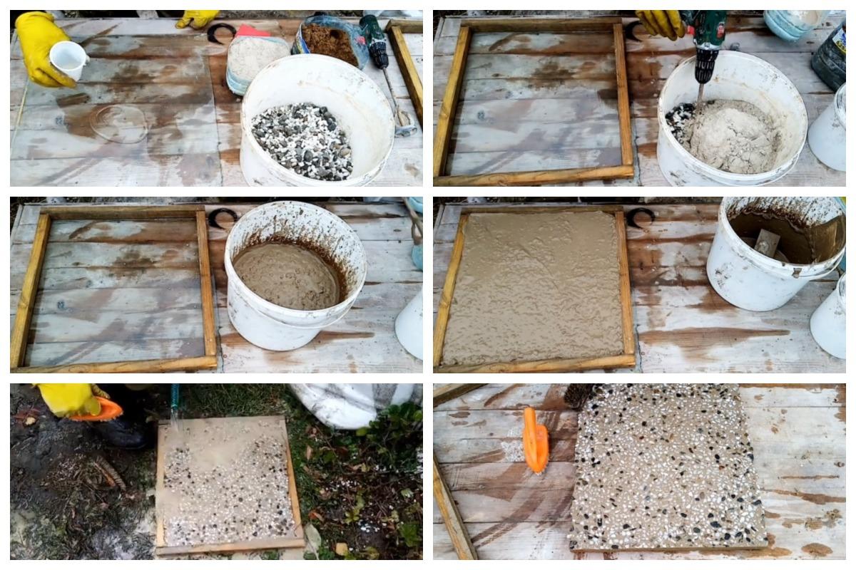 Производство мытого бетона